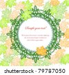 lace frame with leaves - stock vector