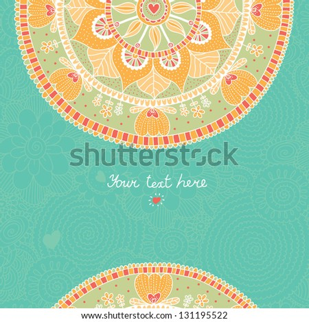 Lace ornament. Template frame design for card. Vintage Lace Doily.Can be used for packaging, Valentine's Day decoration,bag template. - stock vector