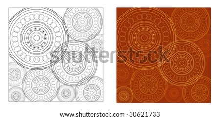 Lace pattern - stock vector