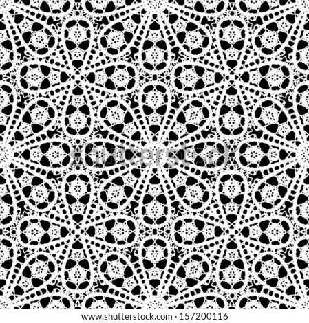 Crochet Patterns Vector : ... crocheted lace border with an openwork pattern vector illustration t
