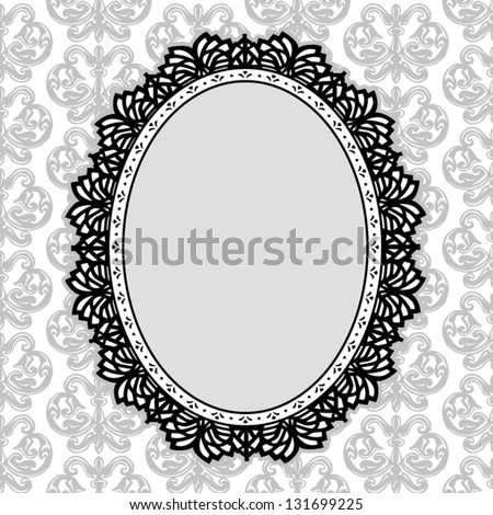 Lace Picture Frame Vintage Oval Doily Vector de stock131699225 ...