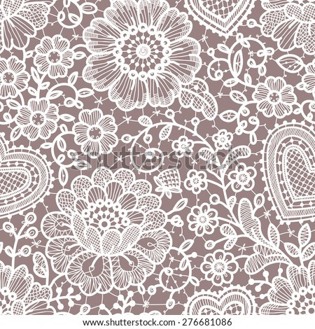 Lace seamless pattern. - stock vector