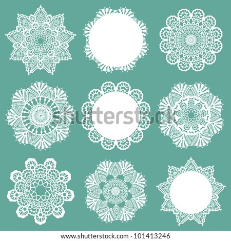 Lace Snowflakes - stock vector
