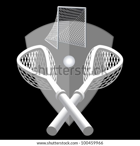 Lacrosse background - stock vector