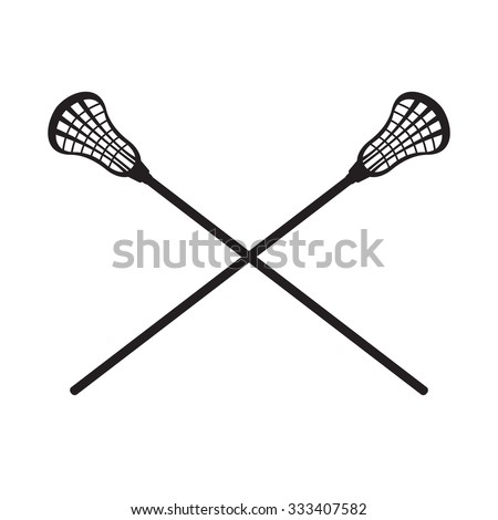 Lacrosse Sticks - stock vector