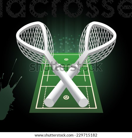 Lacrosse vector background. - stock vector