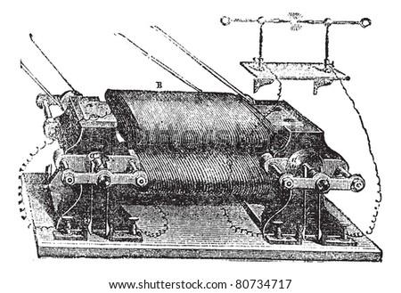 Ladd's Machine, vintage engraved illustration. Trousset encyclopedia (1886 - 1891). - stock vector