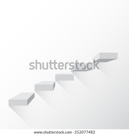 Ladder, climb carrere growth on a black background with shadows  - stock vector
