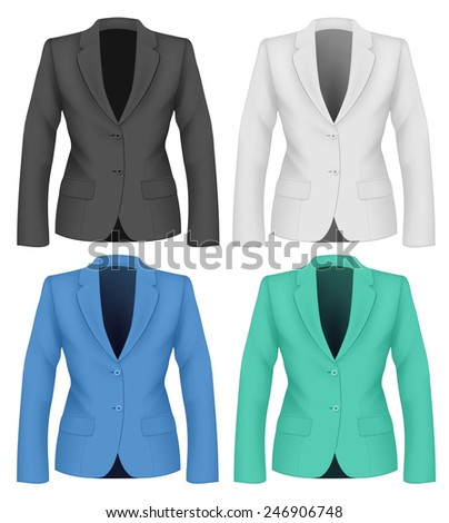 Ladies suit jacket business women formal stock vector royalty free ladies suit jacket for business women formal work wear vector illustration cheaphphosting Choice Image