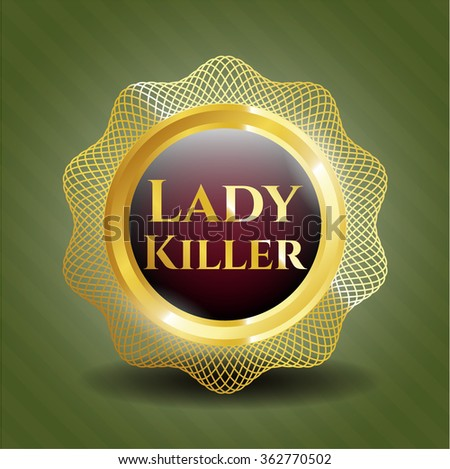 Lady Killer shiny emblem - stock vector