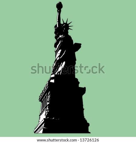 lady liberty - stock vector