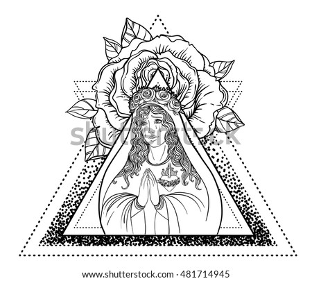 Virgin Mary Coloring Book