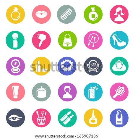Lady's dream icons - stock vector