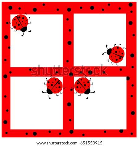 Ladybug Frame Stock Vector (Royalty Free) 651553915 - Shutterstock