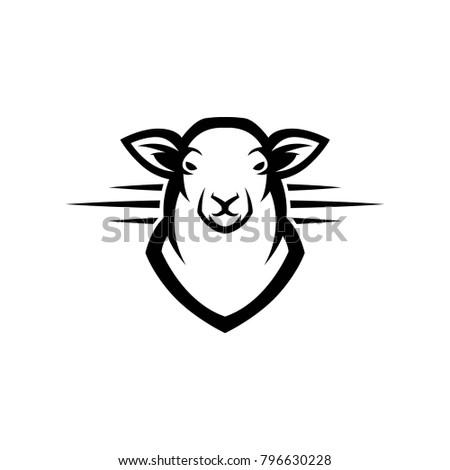 Lamb Logo Mascot Template Design Stock Vector 796630228 - Shutterstock