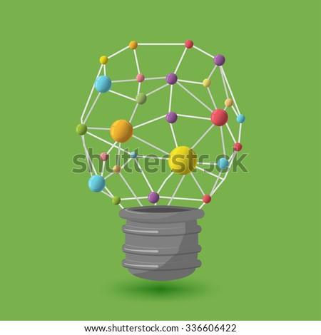 Lamp Abstract Icon Symbol Logo Vector - stock vector