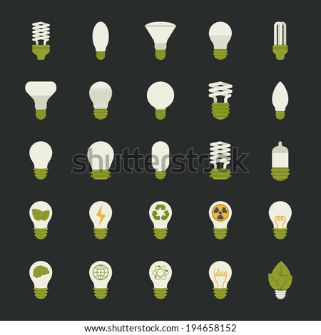 Lamp and light bulb concept , icon set , eps10 vector format - stock vector