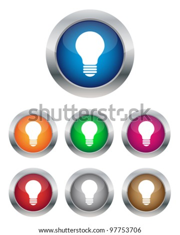 Lamp buttons - stock vector