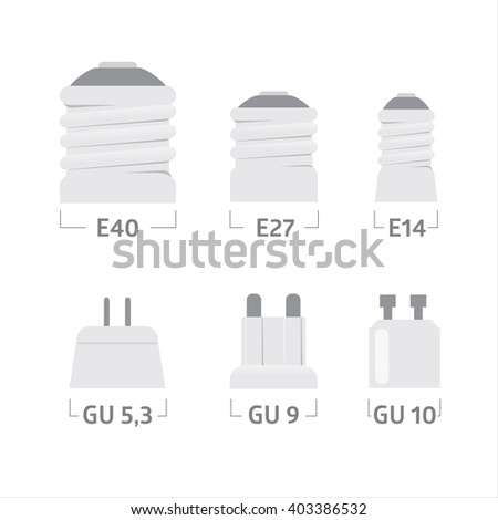 lamp cap vector icons  - stock vector