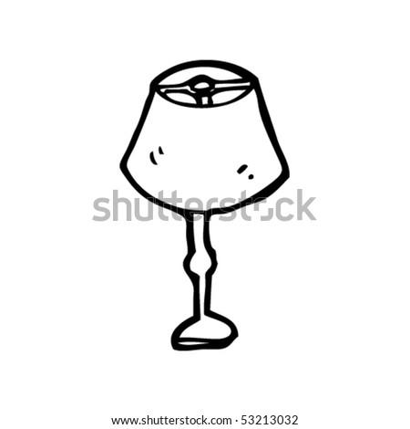 lamp drawing - stock vector
