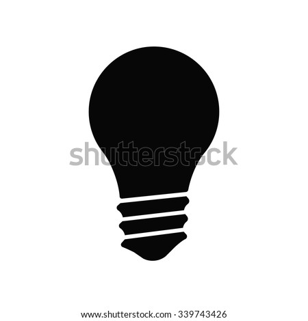 lamp  icon. One of set web icons - stock vector