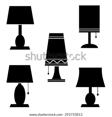 lamp icons vector.