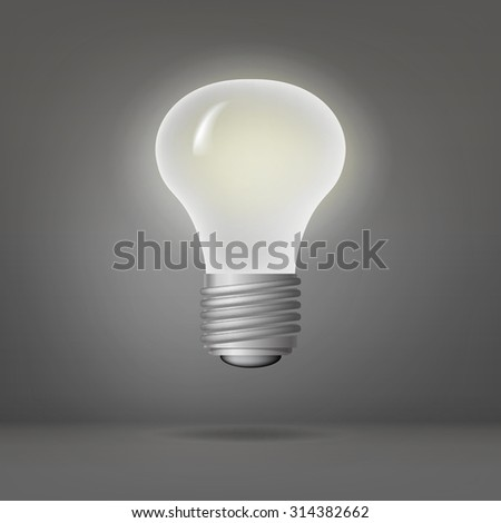lamp isolated glowing icon vector