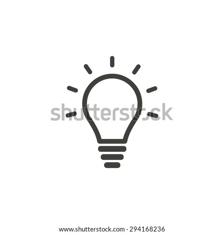 Lamp  line icon  on white background. Vector illustration. - stock vector