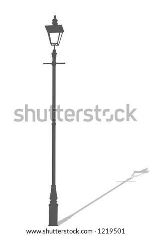 Lamp Post Vector Illustration