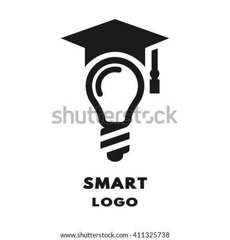 Lamp Square Academic Cap Logo Icon Stock Vector 411325738 ...