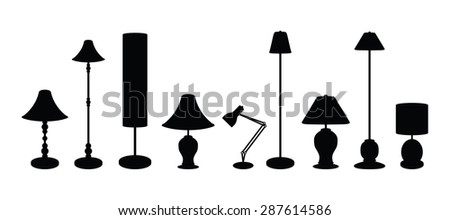 lampshade set - stock vector