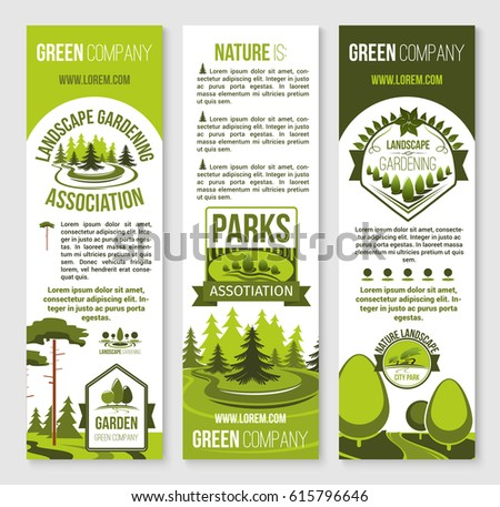 Eco landscape green horticulture design vector stock for Eco landscape design