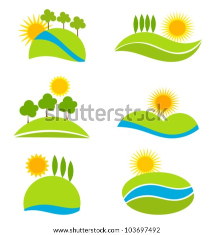 Tuscany vector stock photos images pictures shutterstock for Landscape design icons