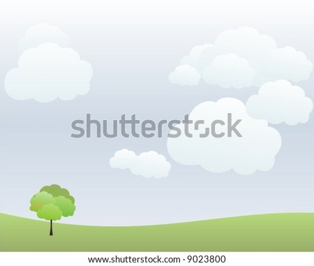 landscape in vector