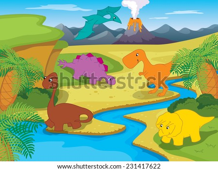 Landscape with Dinosaurs