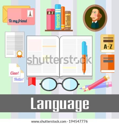 Language - stock vector