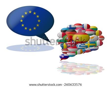 languages european union - stock vector