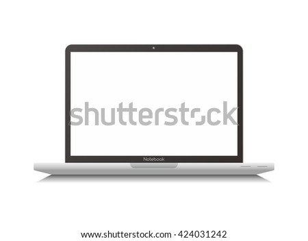 laptop and notebook theme vector graphic art illustration