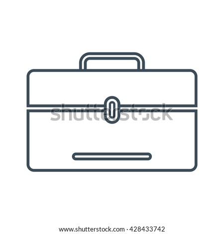 Laptop bag Icon Isolated on White Background.vector illustration icon