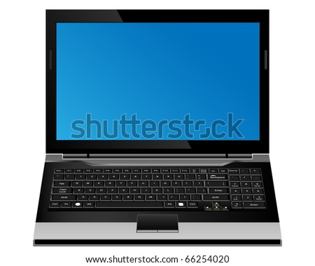 Laptop computer vector format. - stock vector