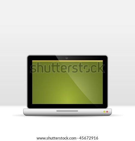 Laptop Computer. Vector Illustration.