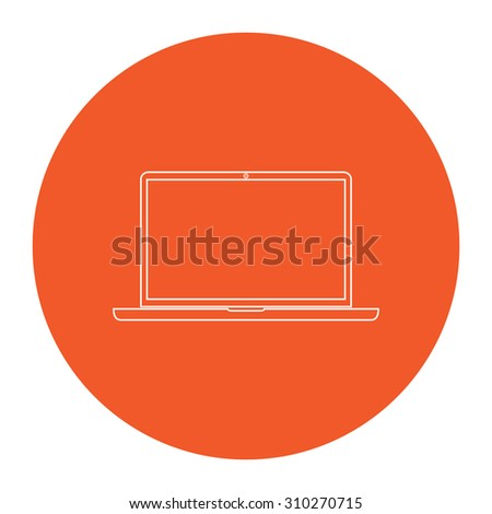 Orange Rectangle Outline