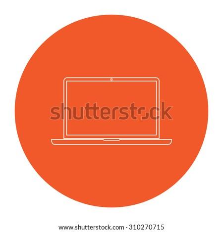 Orange Rectangle Outline