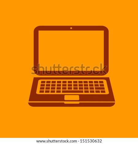 Laptop Icon - stock vector