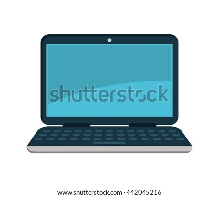 laptop  icon. Gadget design. Vector graphic