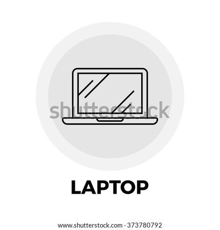 Laptop icon vector. Flat icon isolated on the white background. Vector illustration. - stock vector