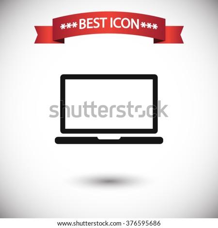 Laptop icon vector, laptop icon eps10, laptop icon illustration, laptop icon picture, laptop icon flat, laptop icon, laptop web icon, laptop icon art, laptop icon drawing, laptop icon, laptop icon jpg - stock vector