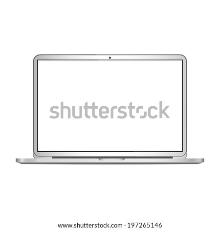 Laptop isolated on white background. Vector - stock vector