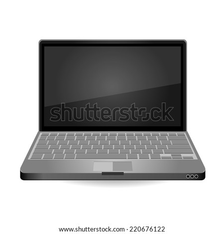 Laptop Isolated on White Background. Vector Illustration.