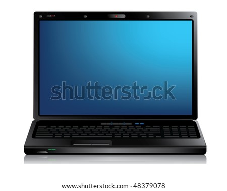 Laptop (notebook) computer - stock vector